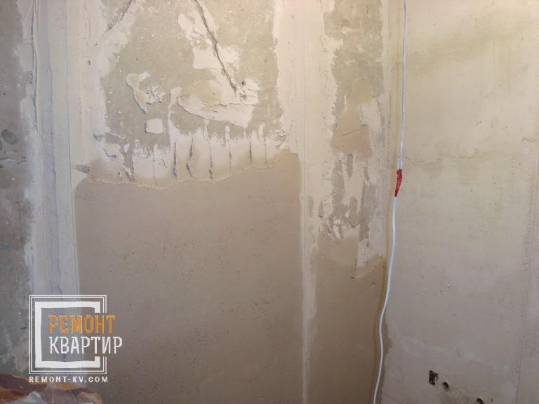 Гипсовая штукатурка стен в ванной