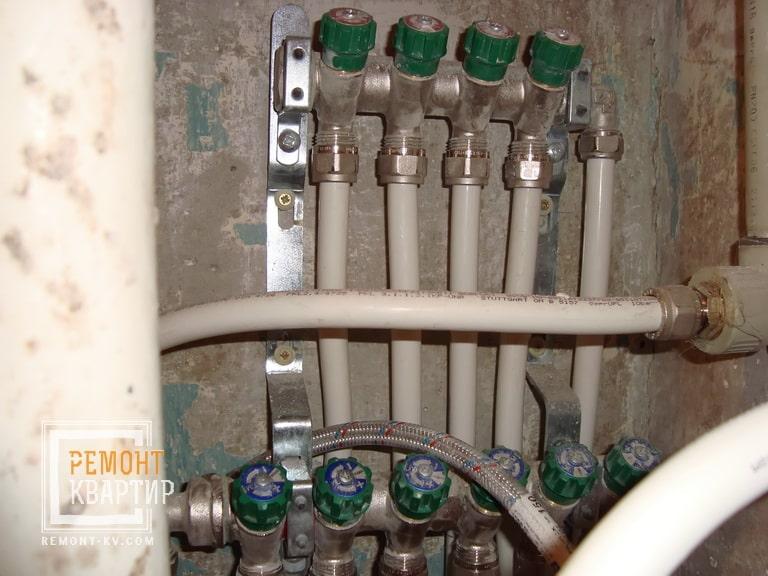 Гребенка водопровода