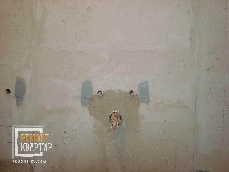 Утопление труб в стене