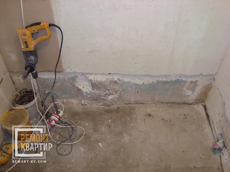 Штукатурка стен в ванной комнате