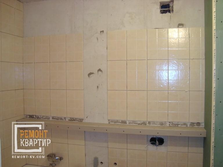 Укладка плитки в ванной на стены