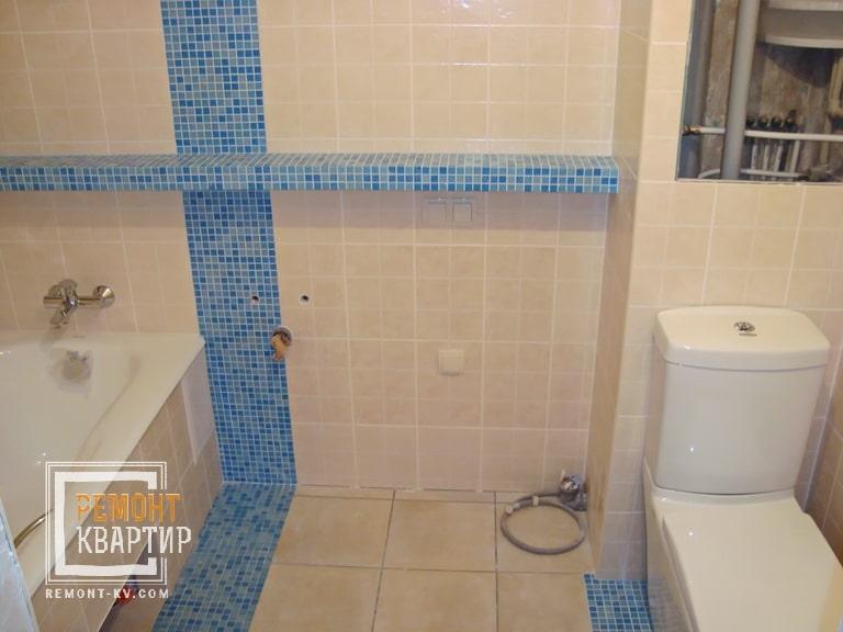 Полочка в ванной из гипсокартона