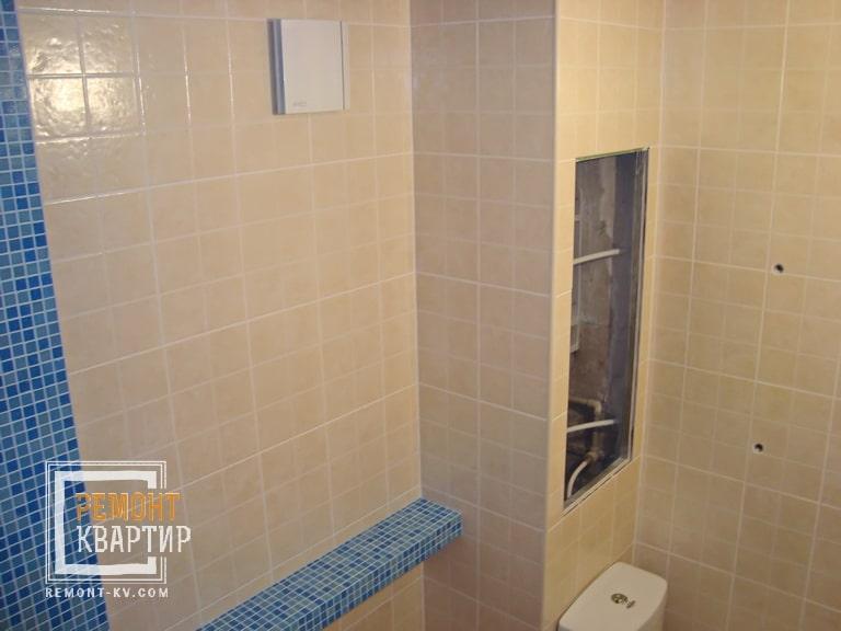 Короб в ванной комнате