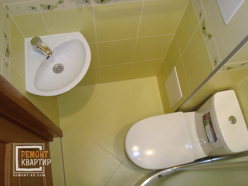 Расстановка в маленькая ванная