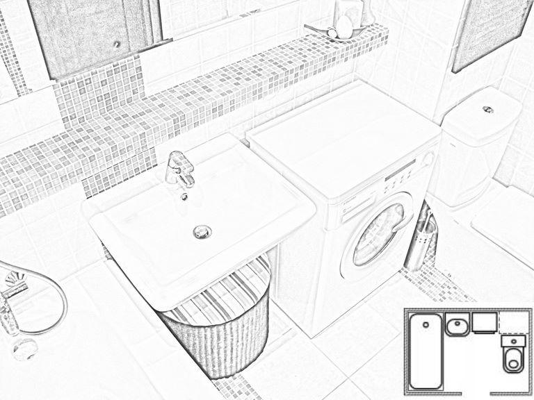 План новой ванной комнаты